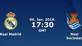 مشاهدة مباراة ريال مدريد وريال سوسيداد بث مباشر بتاريخ 06-01-2019 الدوري الاسباني