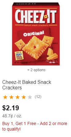 Cheez-It Crackers CVS Deal  8-18 8-24