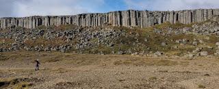 Columnas de basalto de Gerðuberg. Península de Snaefellsnes (Snæfellsnes). Islandia, Iceland.