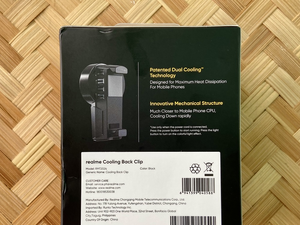 realme Cooling Back Clip Retail Box - Back