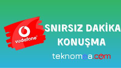 Vodafone aboneleri için yeni yıl kampanyası olarak kullanıcılarına 1 aylık sınırsız konuşma yani sınırsız dakika veriyor. Tek yapmanız gereken.