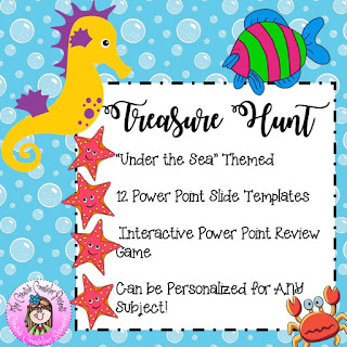 Under the Sea Treasure Hunt PP Templates & Review Game