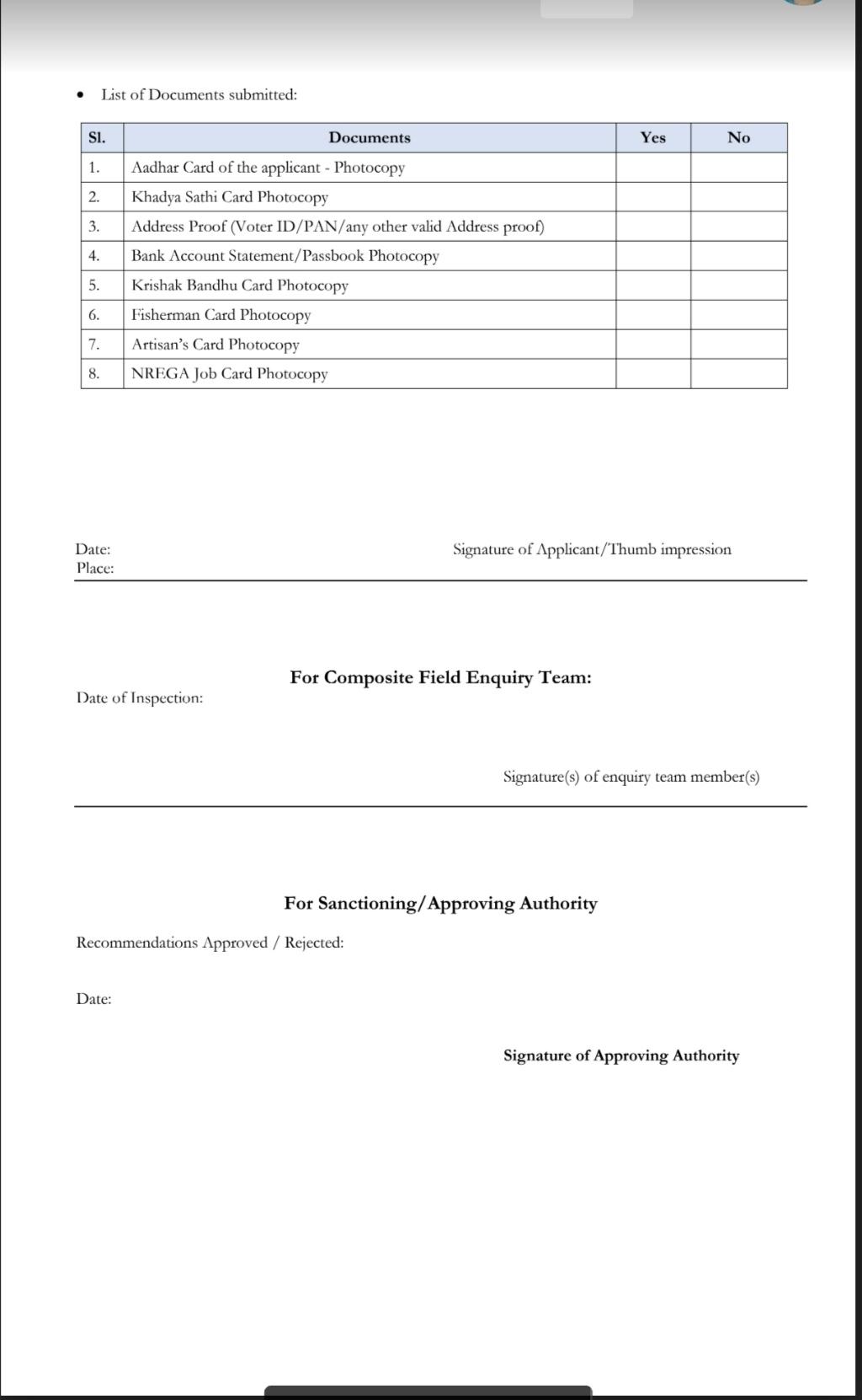 Duare Tran application form download PDF