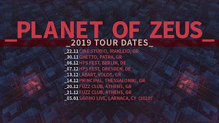 Planet of Zeus 2019 tour dates