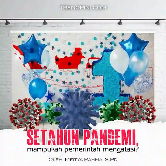 genap satu tahun virus covid 19 mendiami bumi Indonesia, tepatnya per 2 Maret. Setahun sudah, wabah belum juga mau hengkang dari negri kita. Dalam kurun waktu 1 tahun virus ini sudah menyebabkan 36.518 orang meninggal dan 1.347.026 orang terinfeksi