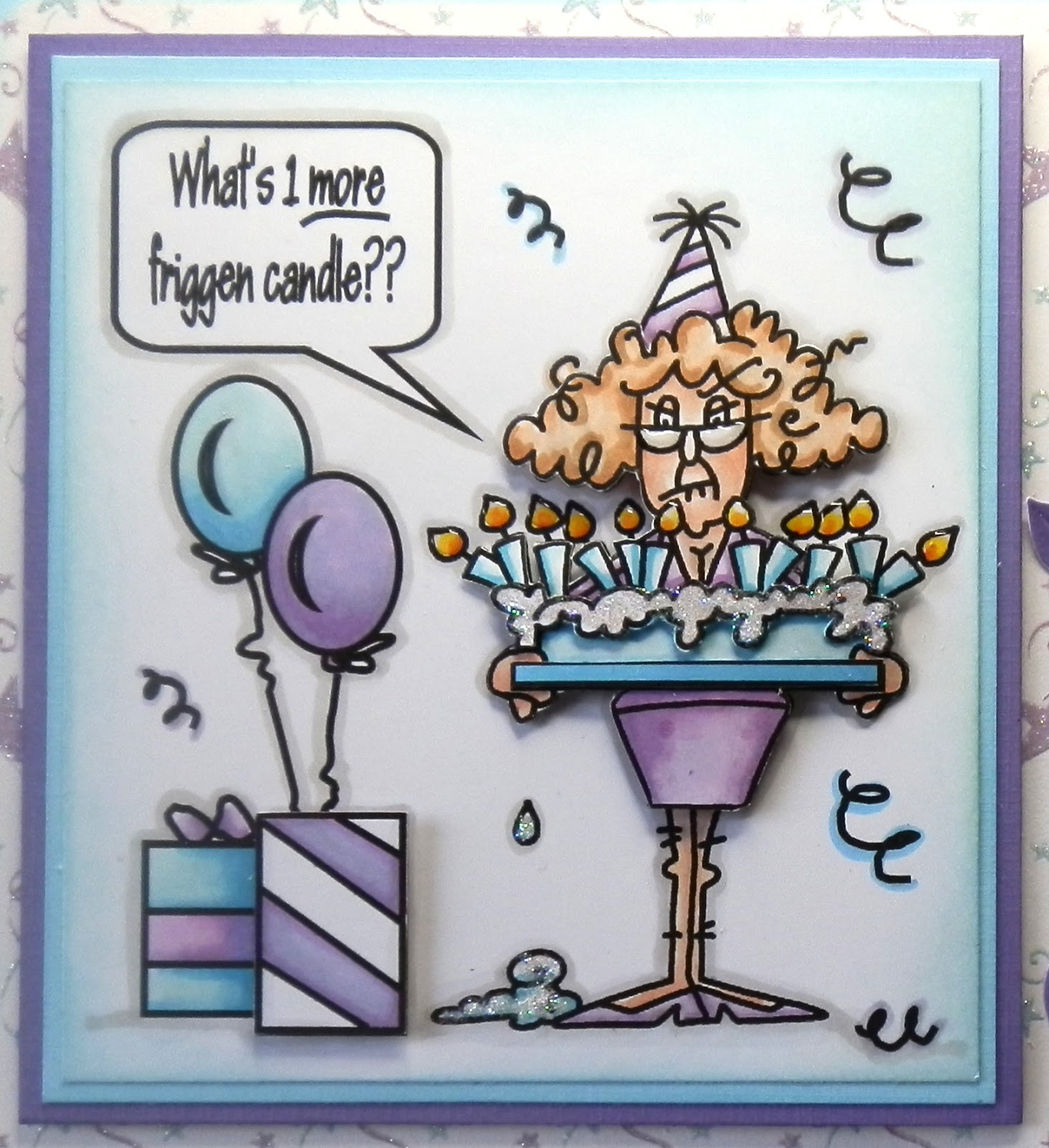 Crafting Crackers 50th Birthday Card
