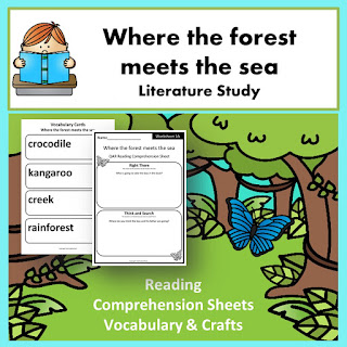https://www.teacherspayteachers.com/Product/Where-the-Forest-Meets-the-Sea-Inspired-Reading-Comprehension-Craft-2569320