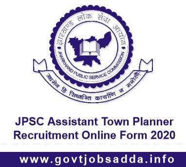 JPSC Recruitment 2020 apply Online for jpsc assistant town planner Post