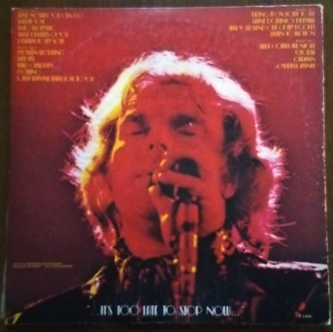 Van Morrison ヴァン・モリソン - It's Too Late To Stop Now 魂の道のり - back