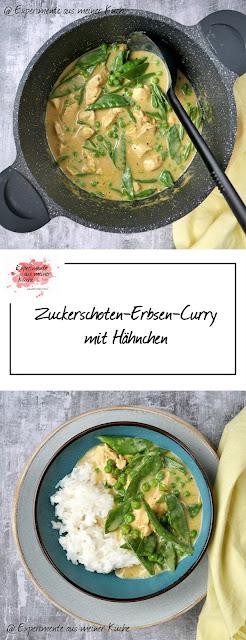 Zuckerschoten-Erbsen-Curry mit Hähnchen | Rezept | Kochen | Essen | Weight Watchers