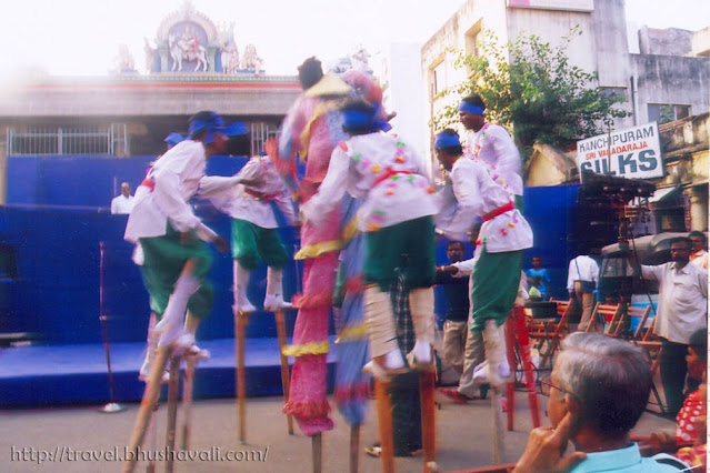 Kazhiyattam - Traditional Stilt folk dance in Tamil Nadu