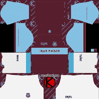 West Ham x Iron Maiden 2019 Special Kit - Dream League Soccer Kits