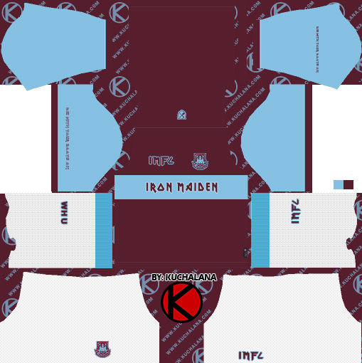 West Ham x Iron Maiden 2019 Special Kit - Dream League Soccer Kits