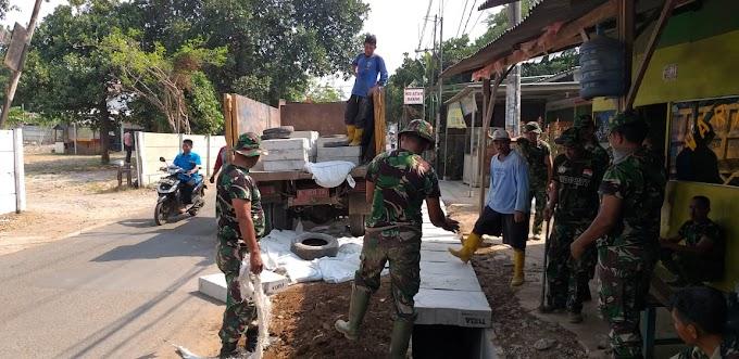 Perbaikan Drainase TMMD Imbangan Kodim Depok Hampir Rampung