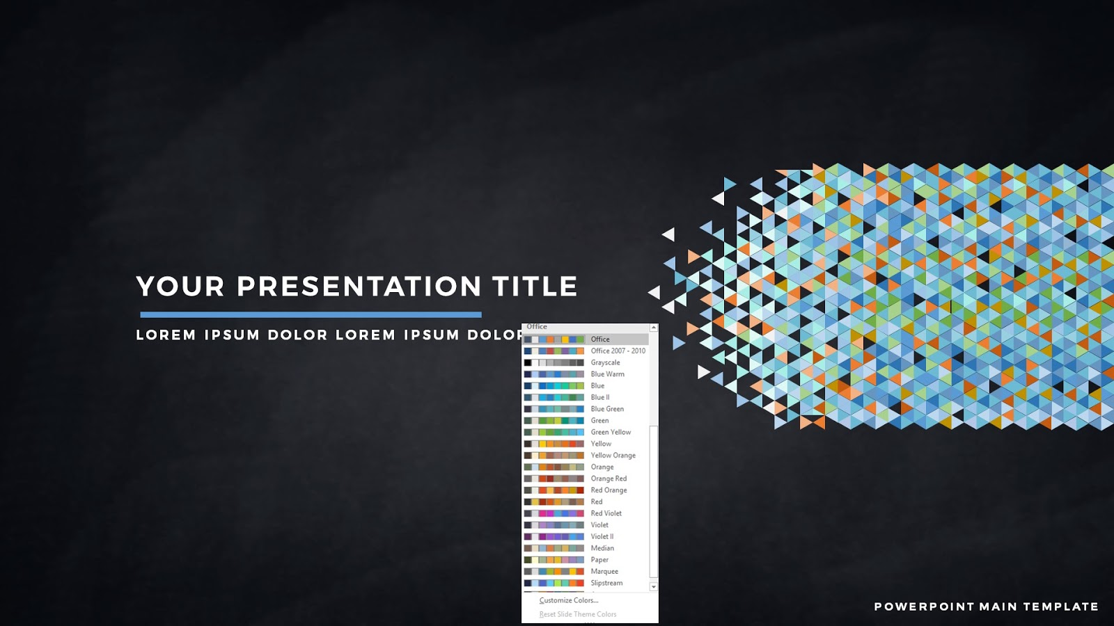 Free powerpoint template with polygonal presentation title polygonal presentation title background free powerpoint template with office default color scheme alramifo Images
