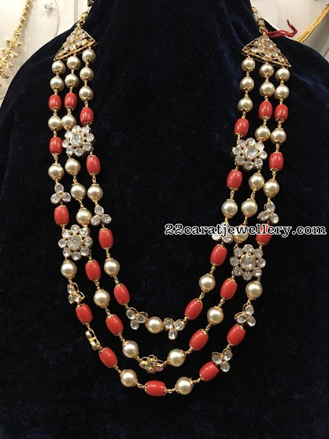 Layers Beads Necklaces by Krishna Jewellers