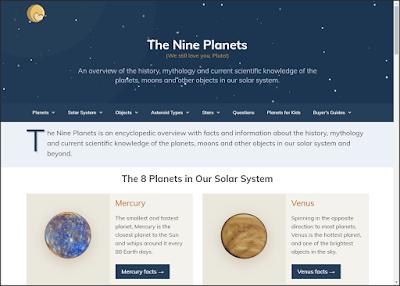 موقع الكواكب التسع The Nine Planets