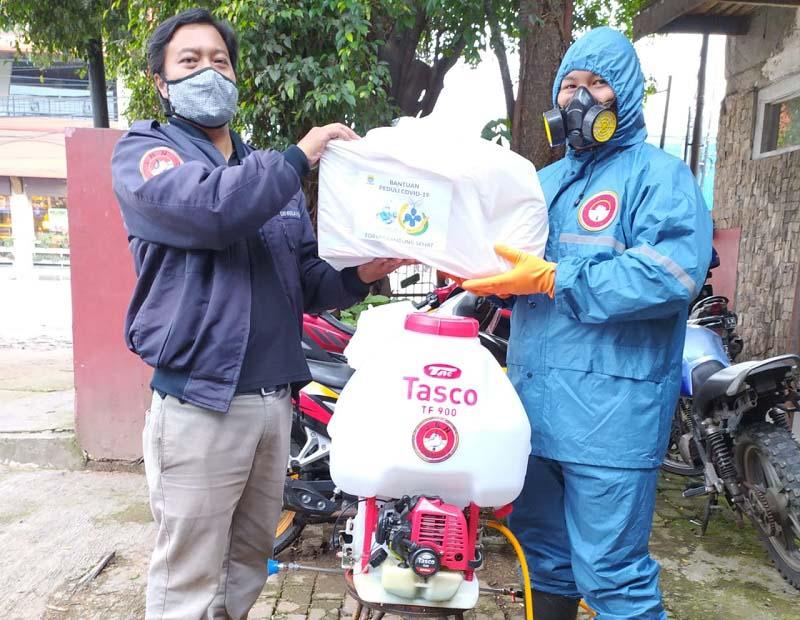 JBN Salurkan Sembako dari FBS untuk Wartawan Bandung