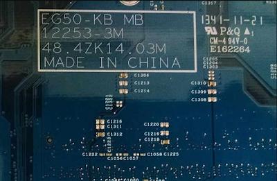 Acer Aspire e1-522 Mainboard EG50-KB MB 12253-3M 48.4ZK14 Laptop Bios