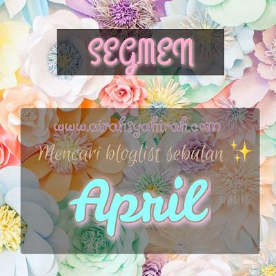 Segmen : Cari Bloglist Sebulan by Airah Syahirah