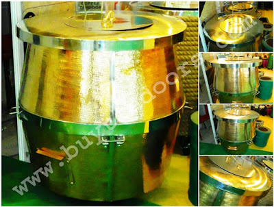 copper barrel shape tandoor