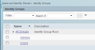 cisco ACS Identity Groups