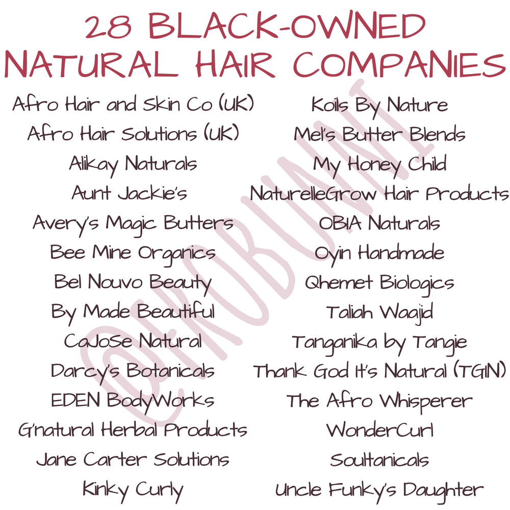 Black Owned Natural Hair Companies
