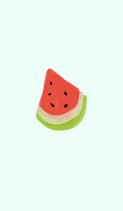 Cute Watermelon Blue Summer Fruit Love