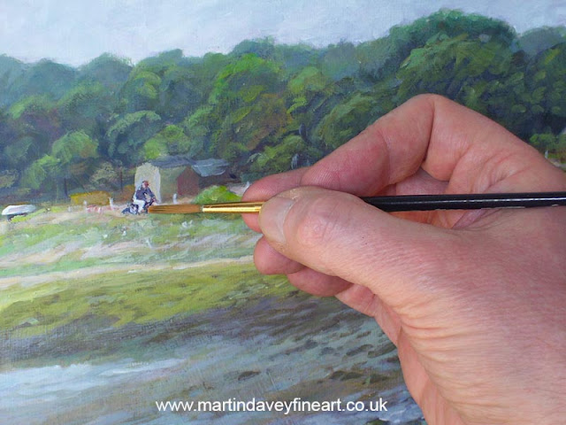 painting WIP warsash coastal hampshire art martin davey