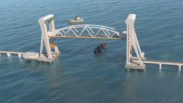 India's First Vertical Lift Bridge