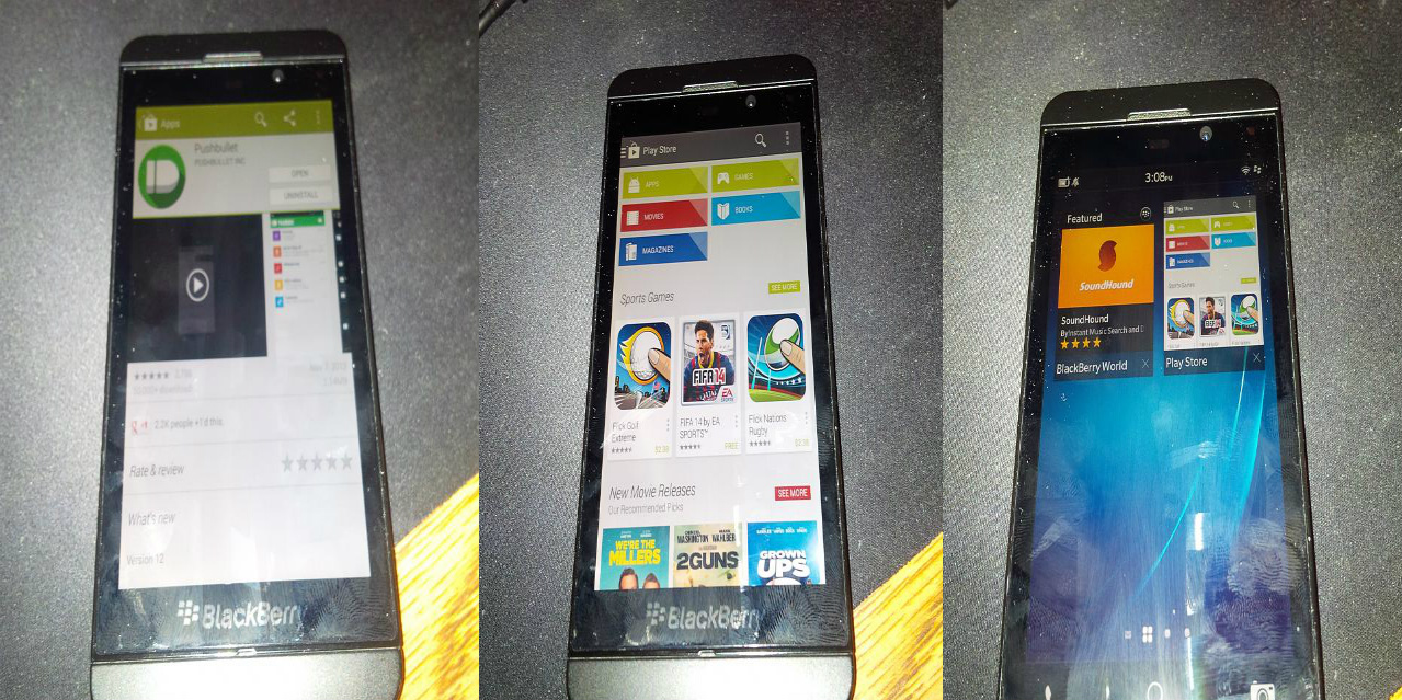 Blackberry Z10 Spotted Running Google Play Store The
