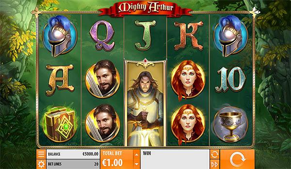 Main Slot Gratis Indonesia - Mighty Arthur (Quickspin)