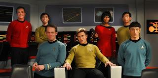 Main cast of Star Trek Continues on bridge