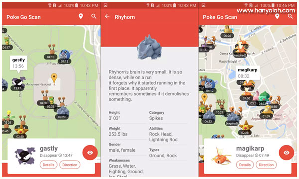 Poke Go Scan : Aplikasi Pencari Pokemon Dengan Mudah