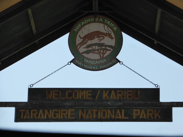 Entrada al Parque Nacional de Tarangire