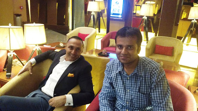 With actor Rahul Bose at the red carpet of his film Poorna in Delhi