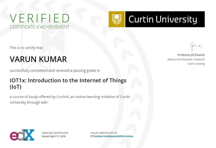 IOT1x: Introduction to the Internet of Things (IoT)
