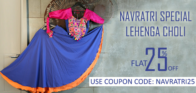 Navratri special traditional lehenga cholis and chaniya cholis online shopping with discount offer sale