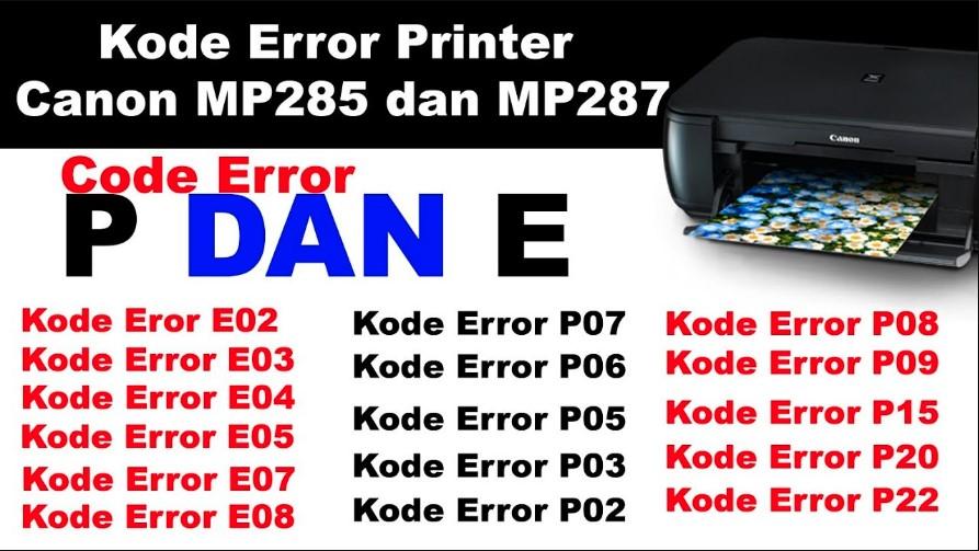 Cara Mengatasi Kode Error Mp258 Mp287 Mg2500 Masterprinter