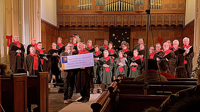 Stairwell Carollers at Southminster concert - photo credit Mark Holzman