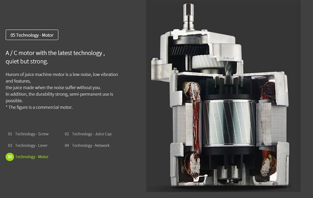 Máy ép chậm - HUROM BLOSSOM, Công nghệ động cơ  mua tại lgvietnam.top