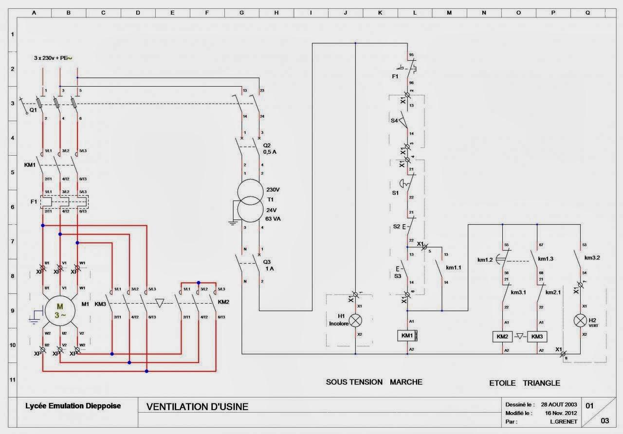 ssc schema cablage moteur etoile