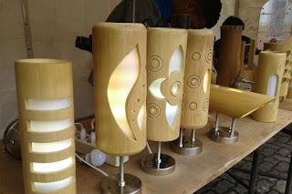 lampu hias dari bambu