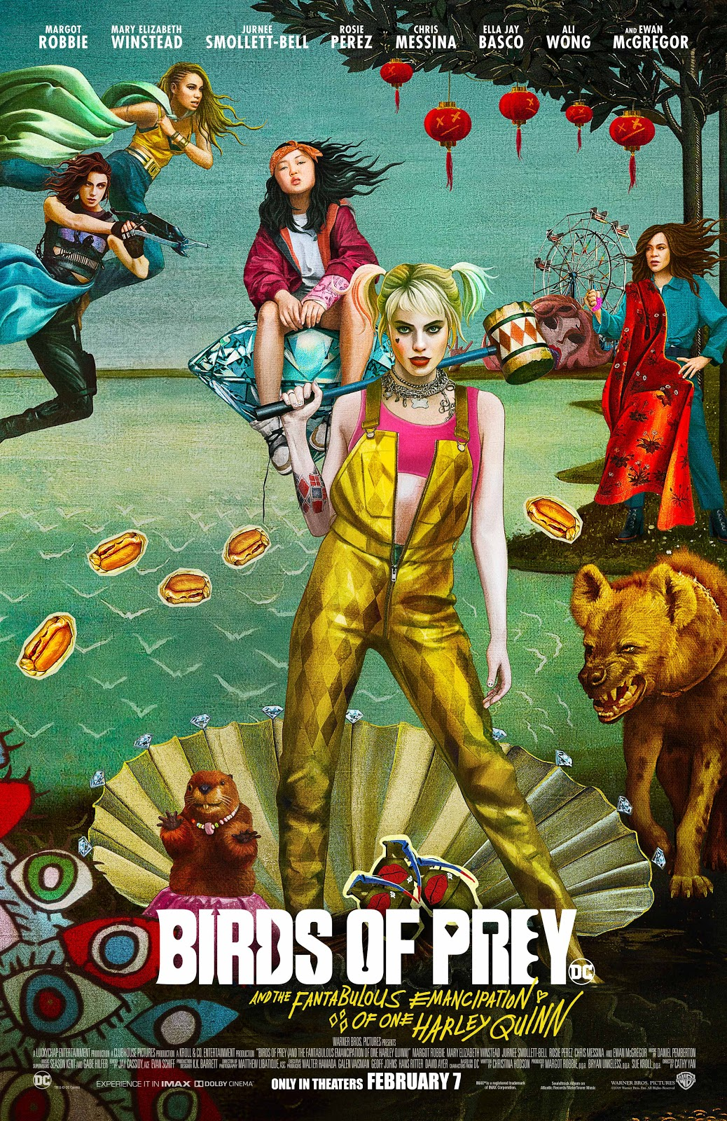 "Birds of Prey and the Fantabulous Emancipation of One Harley Quinn ""Birth of Venus"" poster"
