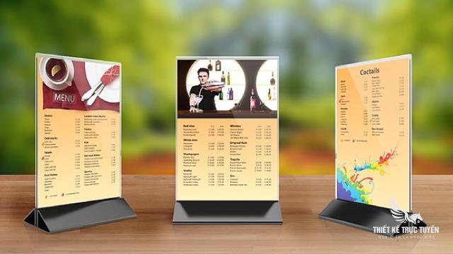 thiết kế menu đẹp