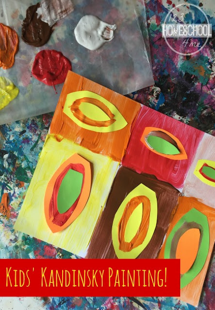 Famous Artists Project! Kids wil have fun leanring about WassilyKadinsky with this Fall Art Project inspired by his work. Fun leaf art project for toddler, preschool, prek, kindergarten, first grade, 2nd grade, 3rd grade, 4th grade, and 5th grade students.