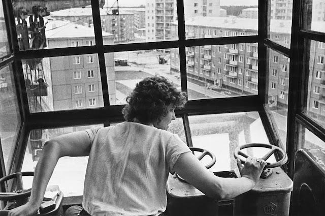 1964-1965-й годы. Рига. Югла. Строят поликлинику