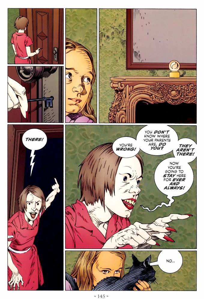 Read page 145, from Nail Gaiman and P. Craig Russell's Coraline graphic novel