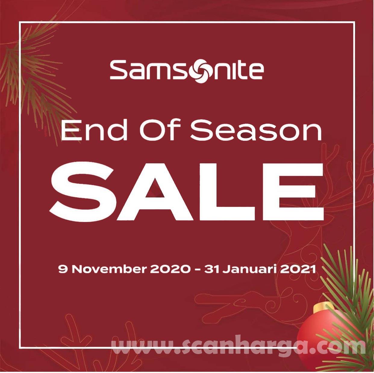 Promo Samsonite End of Season Sale*