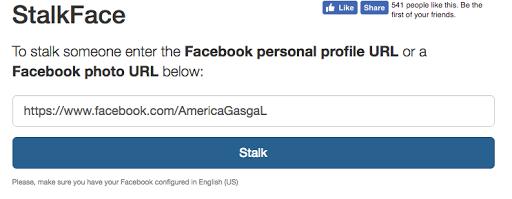 Stalkface, espiar Facebook